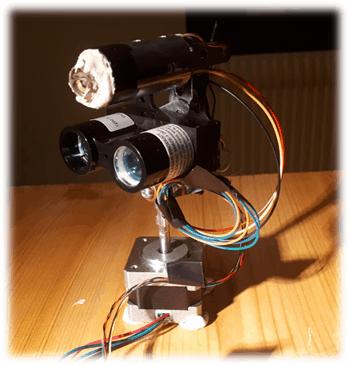 Mesure Lidar rotatif embarqué sur LattePanda et piloté par LabVIEW (LINX)