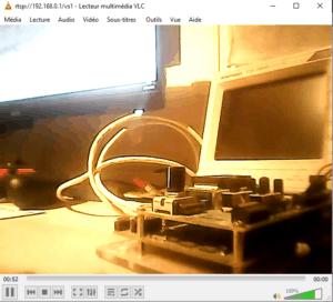 VLC affichant le retour vidéo du Nomad